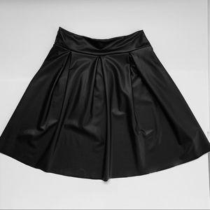 Pleather Skater Skirt